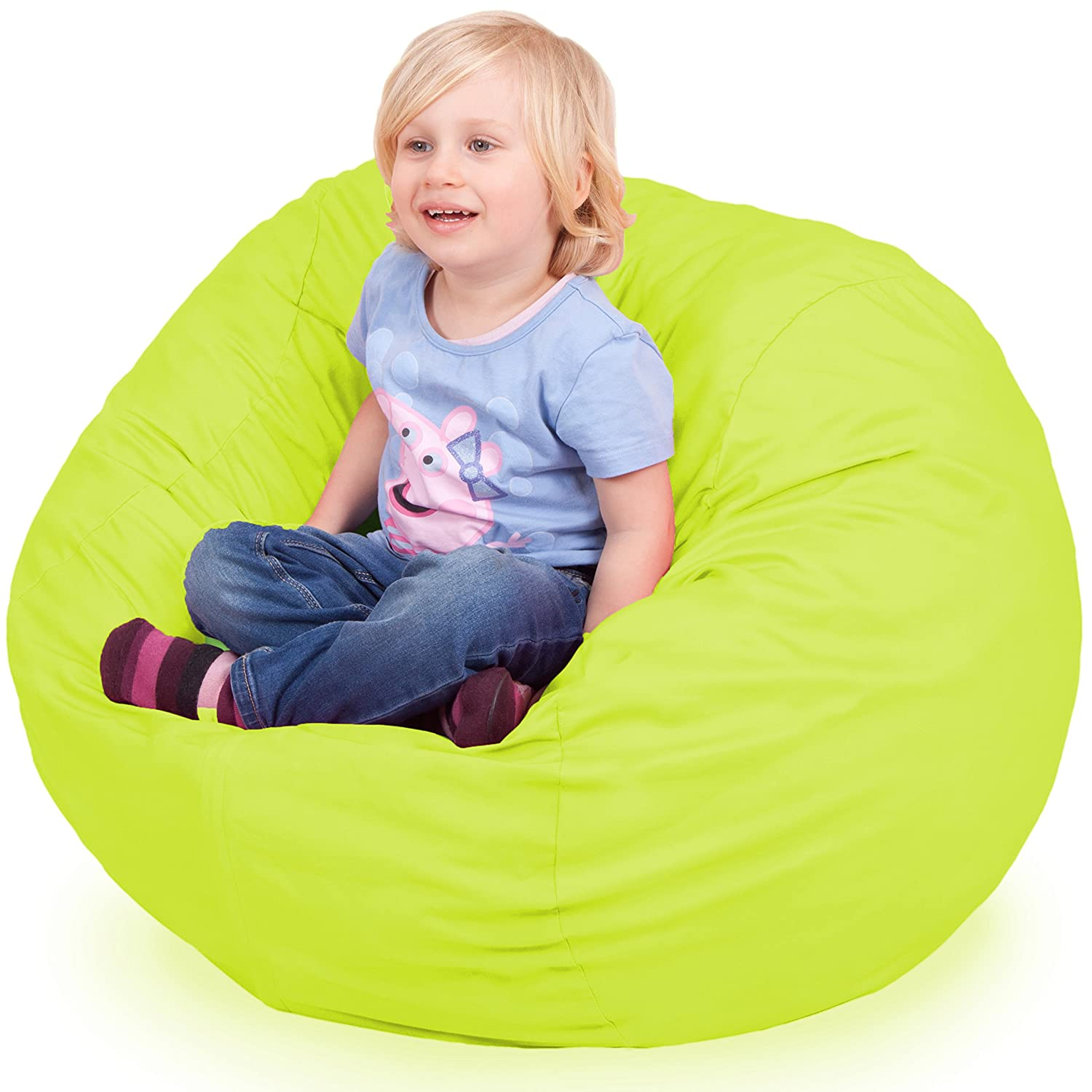 Amazon Oversized Bean Bag Chair in Spicy Lime Machine