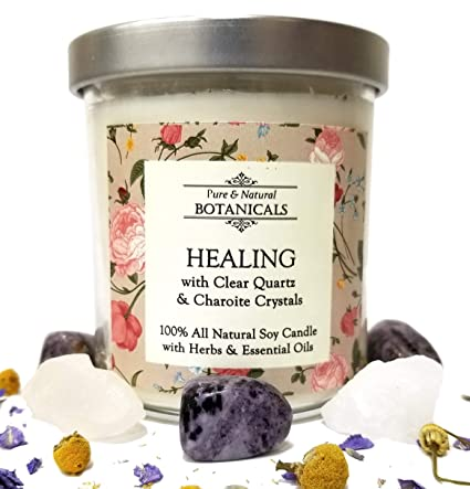 Amazon com: Healing Pure & Natural Soy Candle 8 5 oz 100% Natural
