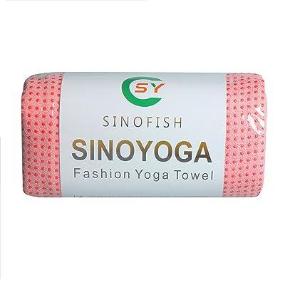 Skidless Serviette de yoga, Sino Yoga®, 100% microfibre, Super absorbant, antidérapant, DE nombreuses couleurs