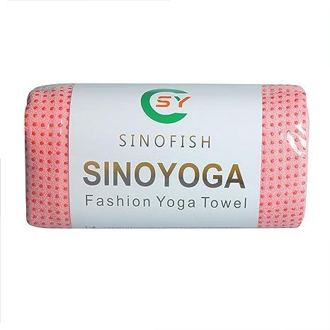 SINO Yoga Deporte Fitness Viaje Entrenamiento Yoga estera protectora Toalla Manta antideslizante, Silicone Beads-