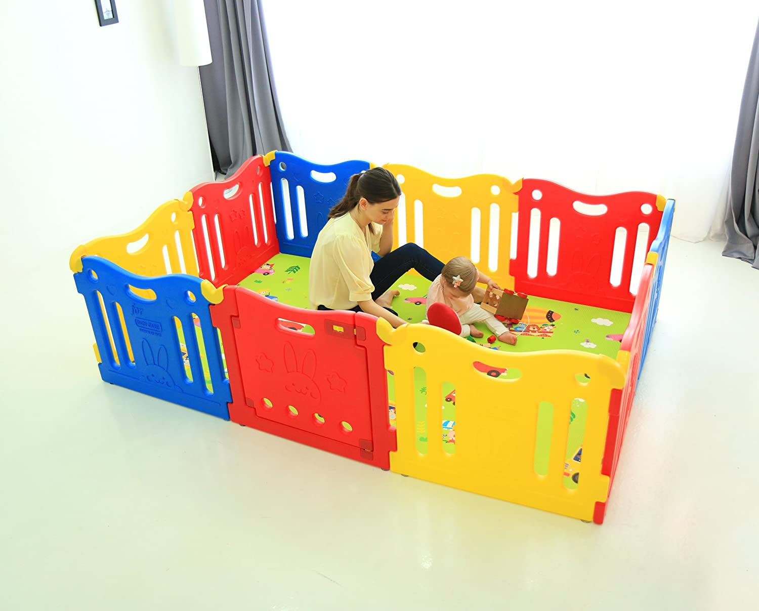 Baby Care Play Mat Pen Vivid