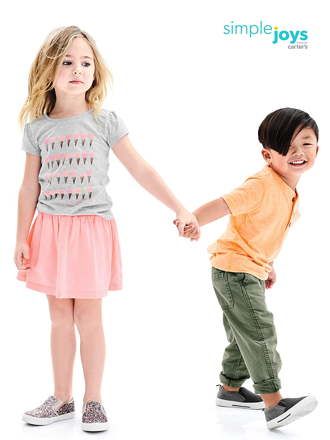 Simple Joys by Carters Toddler Girls 3-Pack Short-Sleeve Graphic Tees