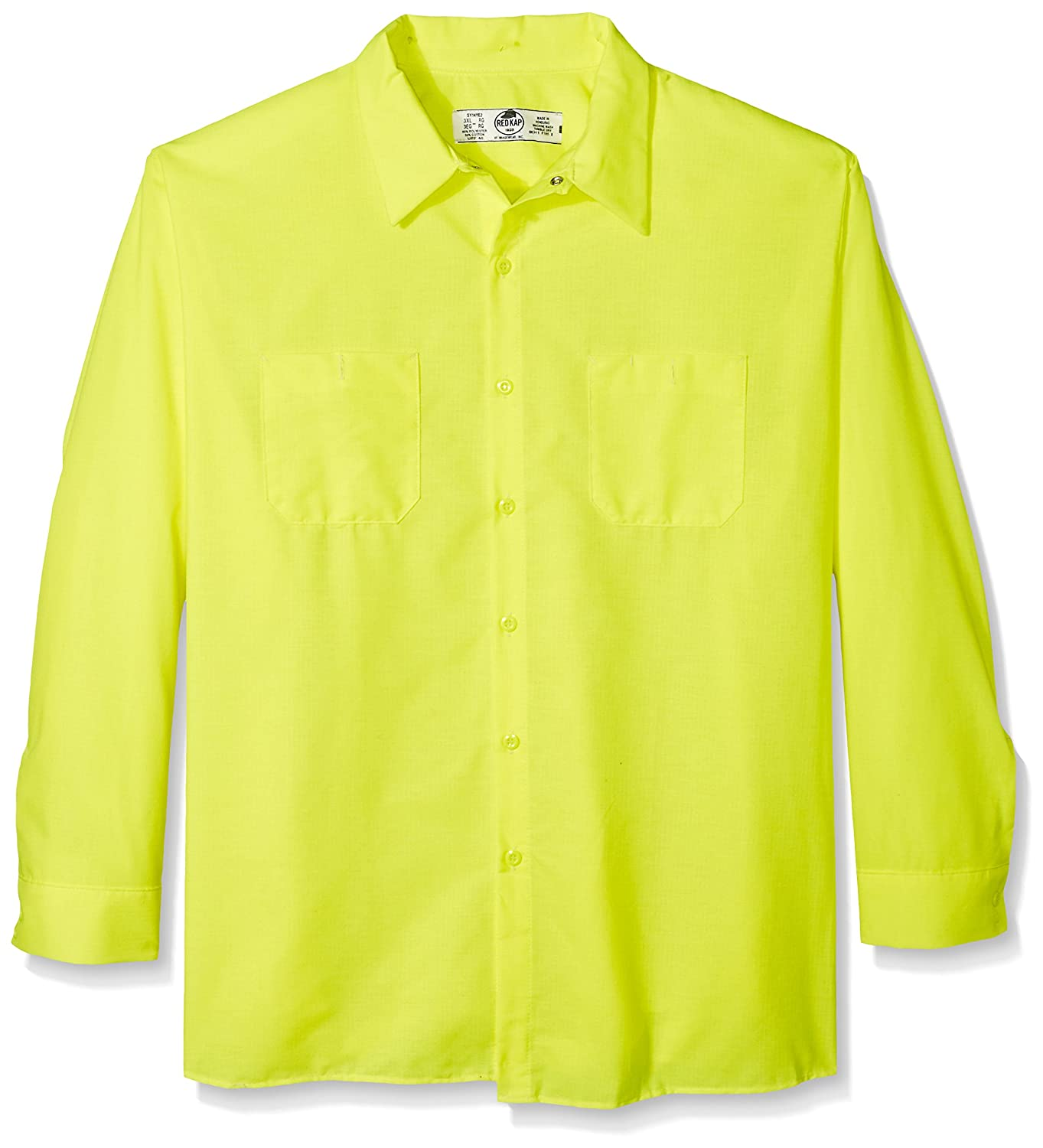 Red Kap SHIRT メンズ B072ZSDCRK X-Large / Tall|Fluorescent Yellow/Green Fluorescent Yellow/Green X-Large / Tall