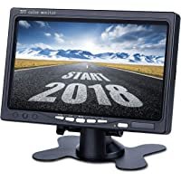 Upgrade Backup Camera Monitor 7 Inch Rearview Reversing LCD Monitor, 1024X600 Resolution Screen, Two Video Input Plug V1/V2 Car Rearview Cameras,Other Video Equipment DVKNM (DBT)