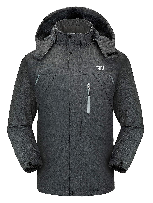 ZSHOW Herren Wasserdichte Ski-Jacke windundurchlässiges Fleece Outdoor Insulated Berg Schnee Regen Jacke