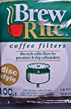 Brew Rite Disc Coffee Filter 100 Ct.