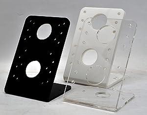 TABcare Acrylic VESA Desktop Mount Stand for Acrylic VESA Enclosure (Black, Desktop Stand)