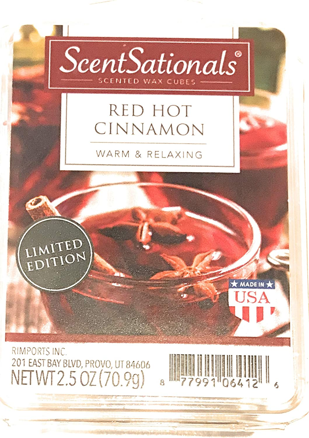 ScentSationals Red Hot Cinnamon Wax Cubes - 2017 Limited Edition