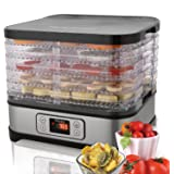 Food Dehydrator Machine jerky with Five Tray, BPA Fre/LED