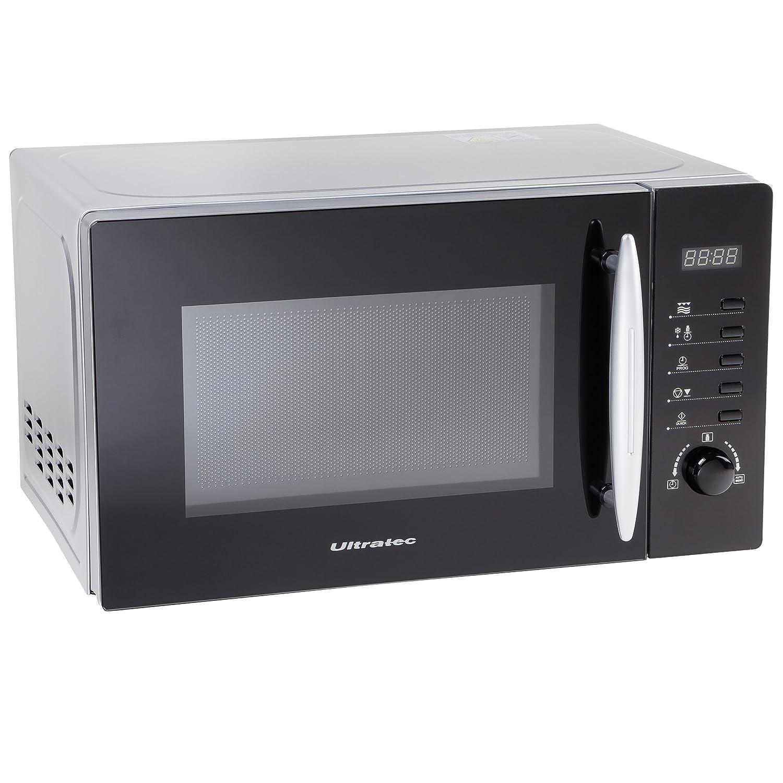 Ultratec MWG200 - Microondas con grill, 700/1000 W, 8 programas, capacidad de 20 litros, función de descongelación, plato giratorio, temporizador de 95 ...