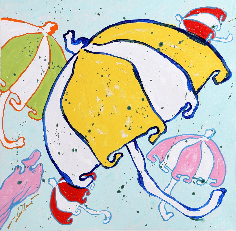 Ombrello Giallo Accumulazione by