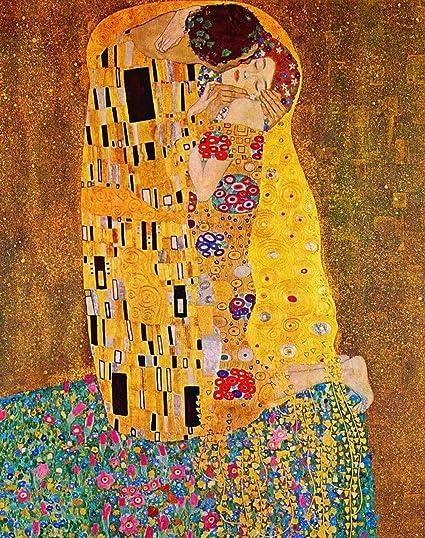 LegendArte Gustav Klimt Il Bacio Stampa su Tela, cm. 80x100 ...