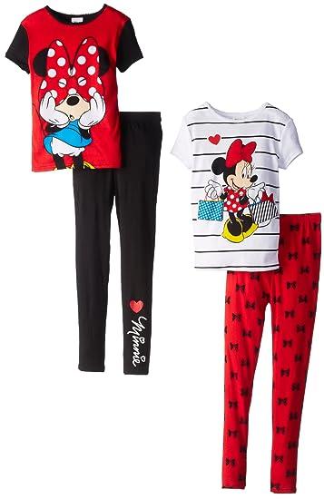 26807ff7105a Amazon.com  Disney Little Girls  Minnie Mouse 4-Piece Set Short ...