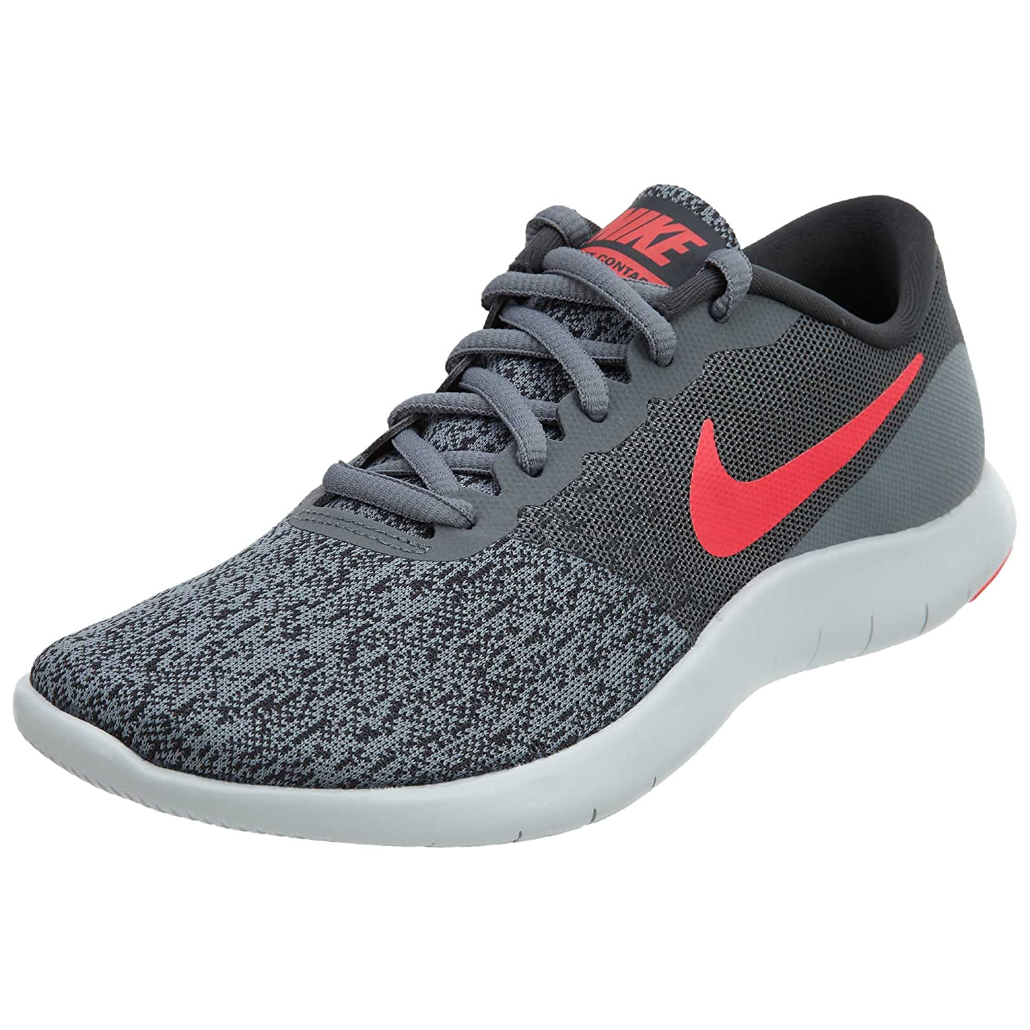 NIKE Women's Flex Contact Running Shoe B072STTWM5 6 B(M) US|Cool Grey Solar Red Anthracite