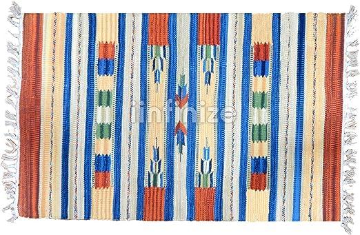 iinfinize - Alfombra de 100% algodón con diseño Rectangular para ...