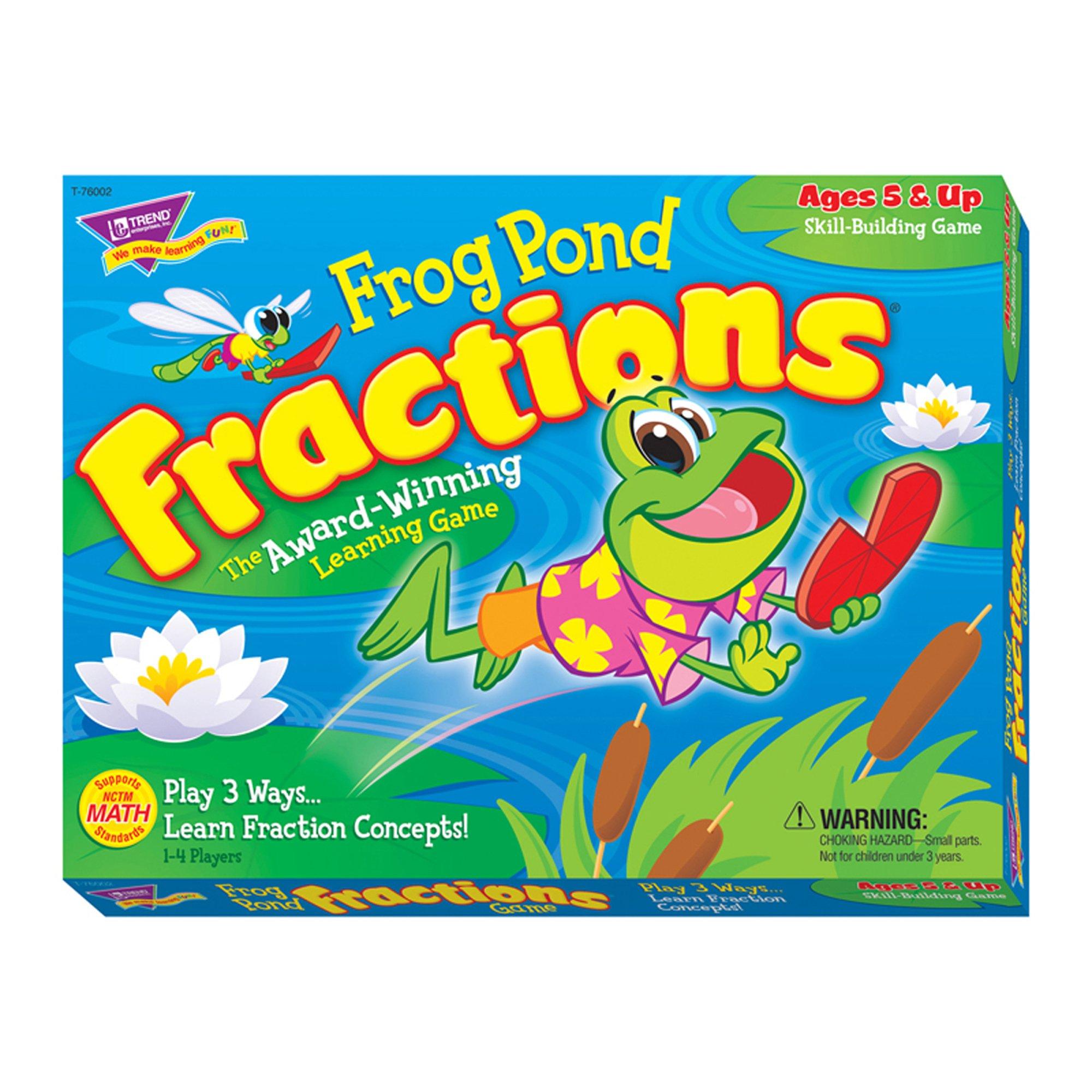 Frog Pond Fractions® Learning Game by Trend Enterprises Inc