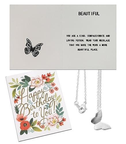 Amazon.com: Chaomingzhen - Collar con colgante de mariposa ...