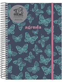 Finocam Agenda 18 meses 2018-2019 2 días página catalán Girl ...