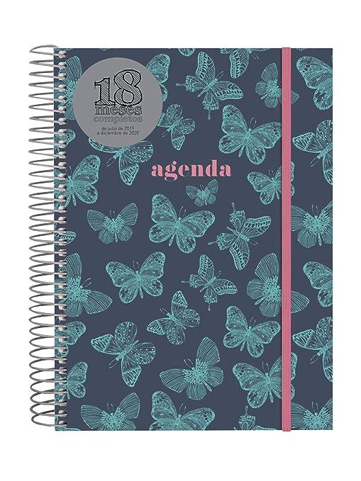 Amazon.com: Agenda 18 Mes 2019-2020 2 Días Página Española ...