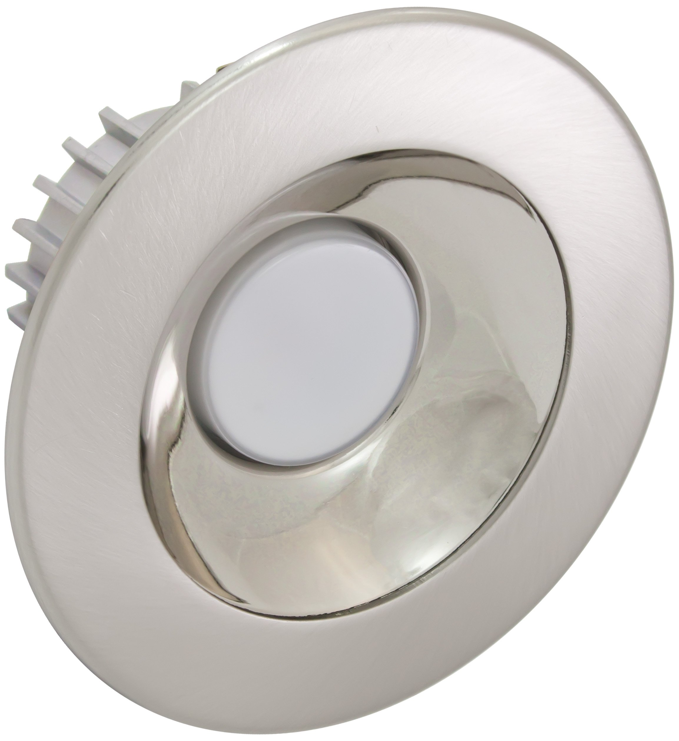 American Lighting X4-ALM-AL-X34 4-Inch Downlight X34 Series Trim Kit with Satin Aluminum Multiplier, Aluminum