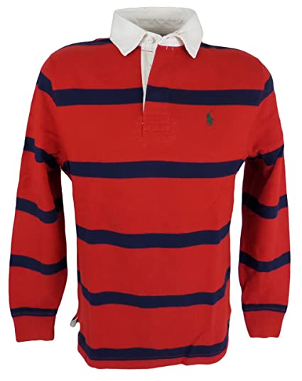 Polo Long Lauren Shirt Ralph Blue Sleeve Stripedxx Red Men's Rugby QBWoredxC