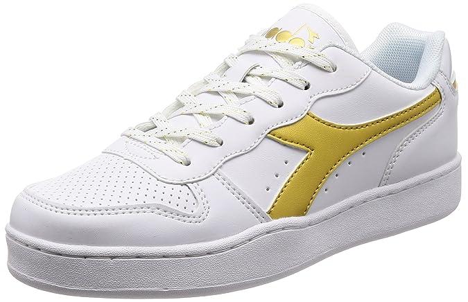 Diadora B.Elite L WN, Chaussures de Gymnastique Femme, Cassé (Bianco Oro), 38 EU
