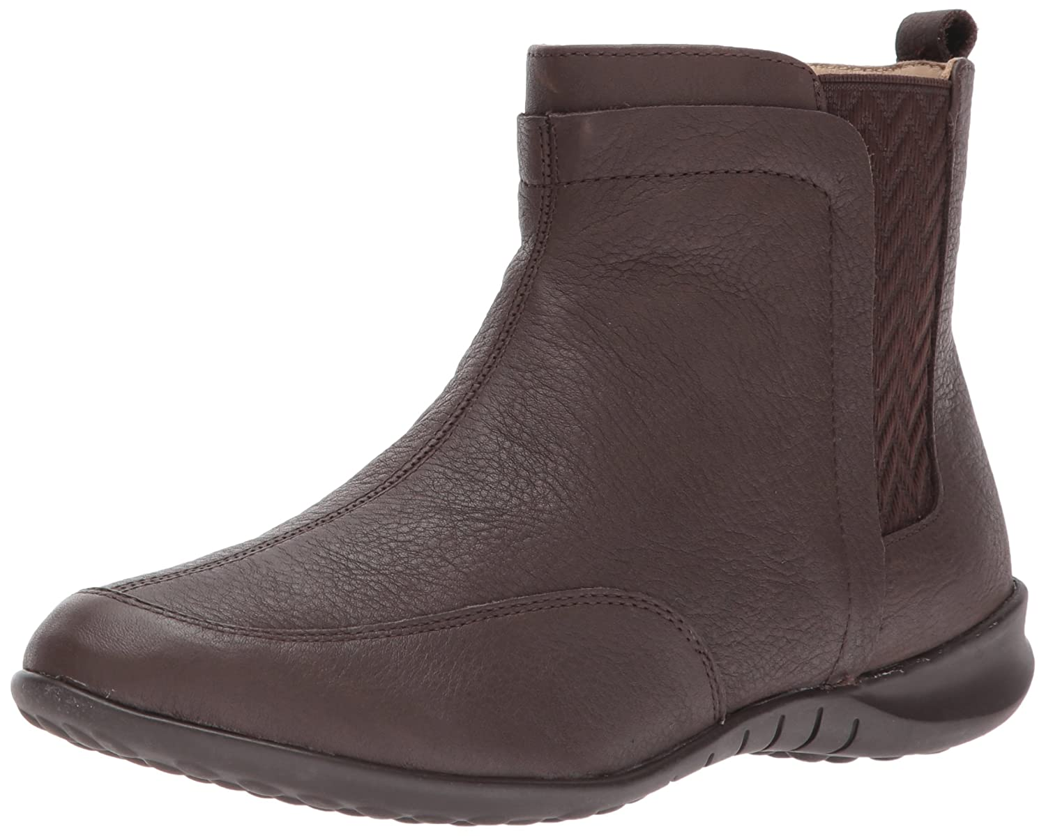 Hush Puppies Women's Lindsi Bria Chelsea Boot B01MRBMAI6 7 W US|Dark Brown Wp