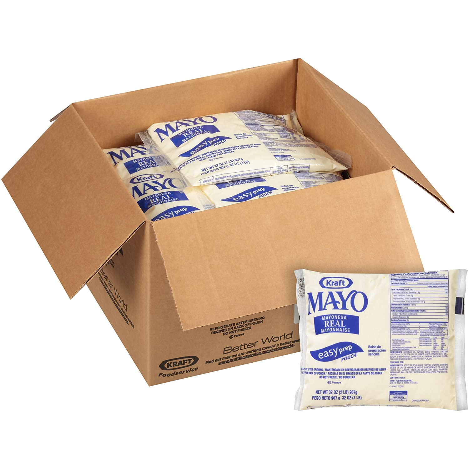 Kraft Real Mayo Bulk (32 oz Bags, Pack of 16)