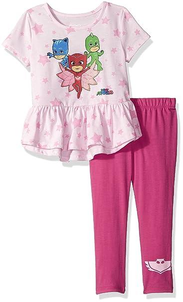 ae5b7bda3af2 Amazon.com  PJ MASKS Girls  Toddler 2 Piece Top and Legging Set ...