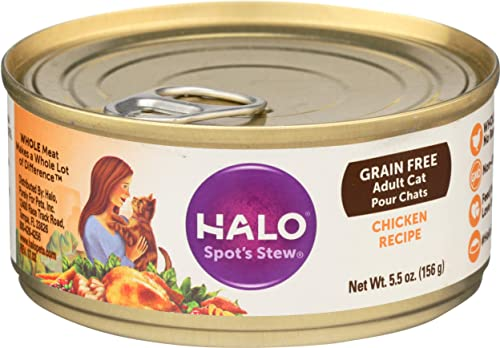 Halo Spot s Stew Cat Chicken Recipe – 12 x 5.5 oz