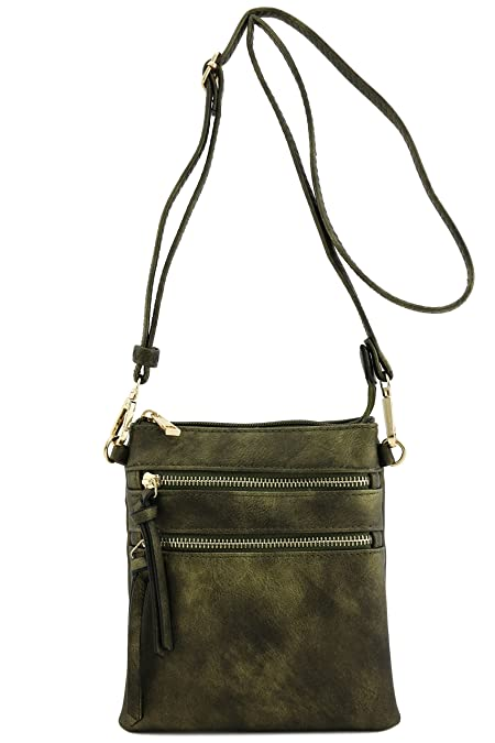 e798dcb6daf Image Unavailable. Image not available for. Color  Functional Multi Pocket  Crossbody Bag (Antique Gold)