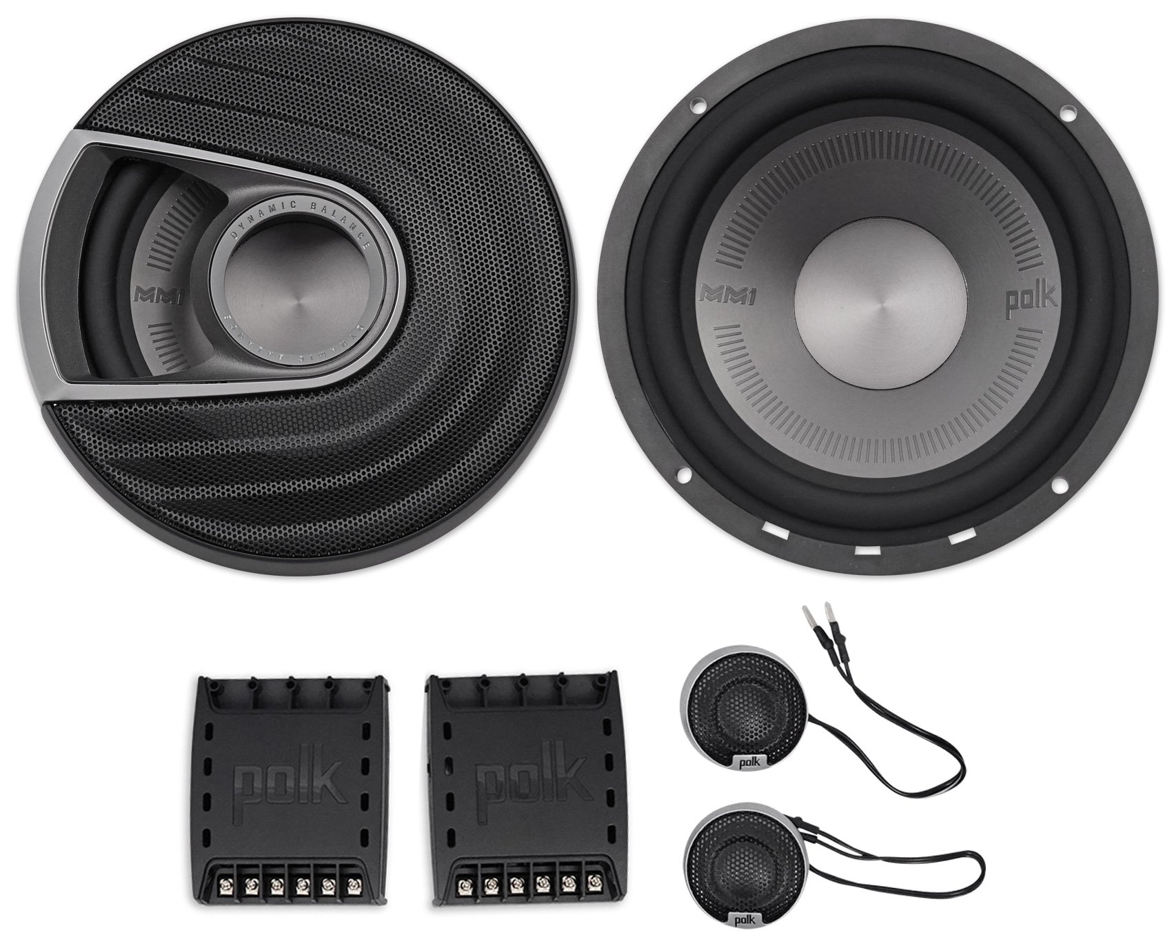 Polk Audio MM1 Series 6.5 Inch 375W Component Marine Boat ATV Speakers System by Polk Audio
