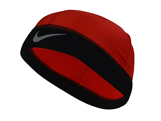 a45f73977d95e Nike Men s Pro Combat Hyper Warm Skull Running Cap Red-Black  Amazon ...