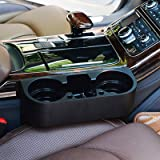 Andux Zone Car Seat Seam Wedge Cup Storage Box Cellphone Holder Mount Black CSZWH-01