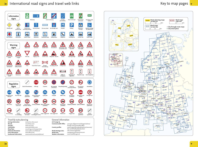 2017 Collins Europe Essential Road Atlas Collins Uk