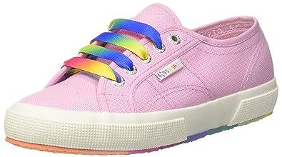 Superga 2750-Cotw Multicolors Outsole, Baskets Femme, Rose (Pink Lavender G30), 38 EU