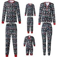 puseky Juego de Pijamas de Navidad a Juego con la Familia de Padres e Hijos Papá Mamá Niños Bebé Ropa de Dormir Trajes