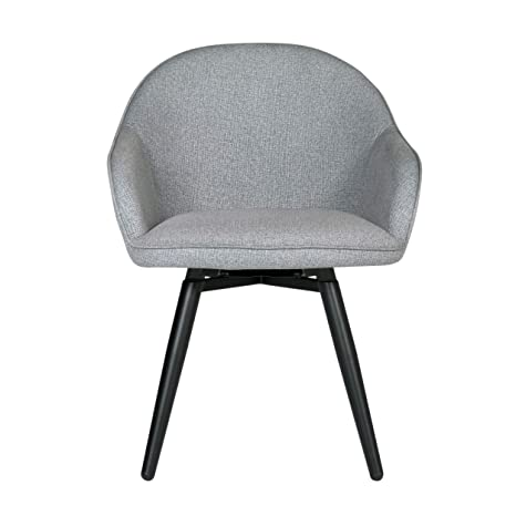 Excellent Studio Designs Home Dome Upholstered Swivel Dining Office Chair With Arms And Metal Legs In Heather Grey Ncnpc Chair Design For Home Ncnpcorg