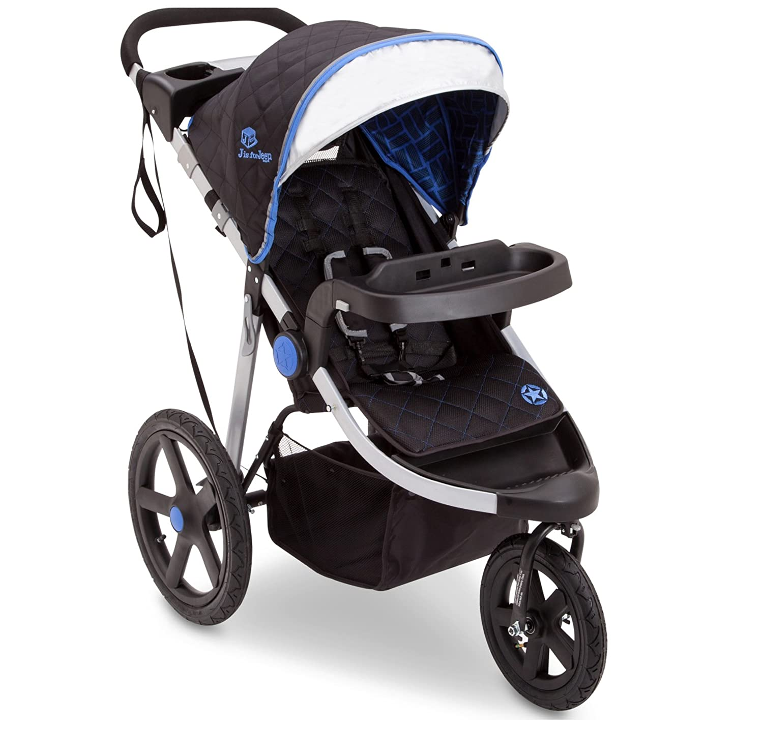 J is for Jeep Brand Cross-Country Sport Plus Jogger, Charcoal Galaxy Delta Children 12988-2271