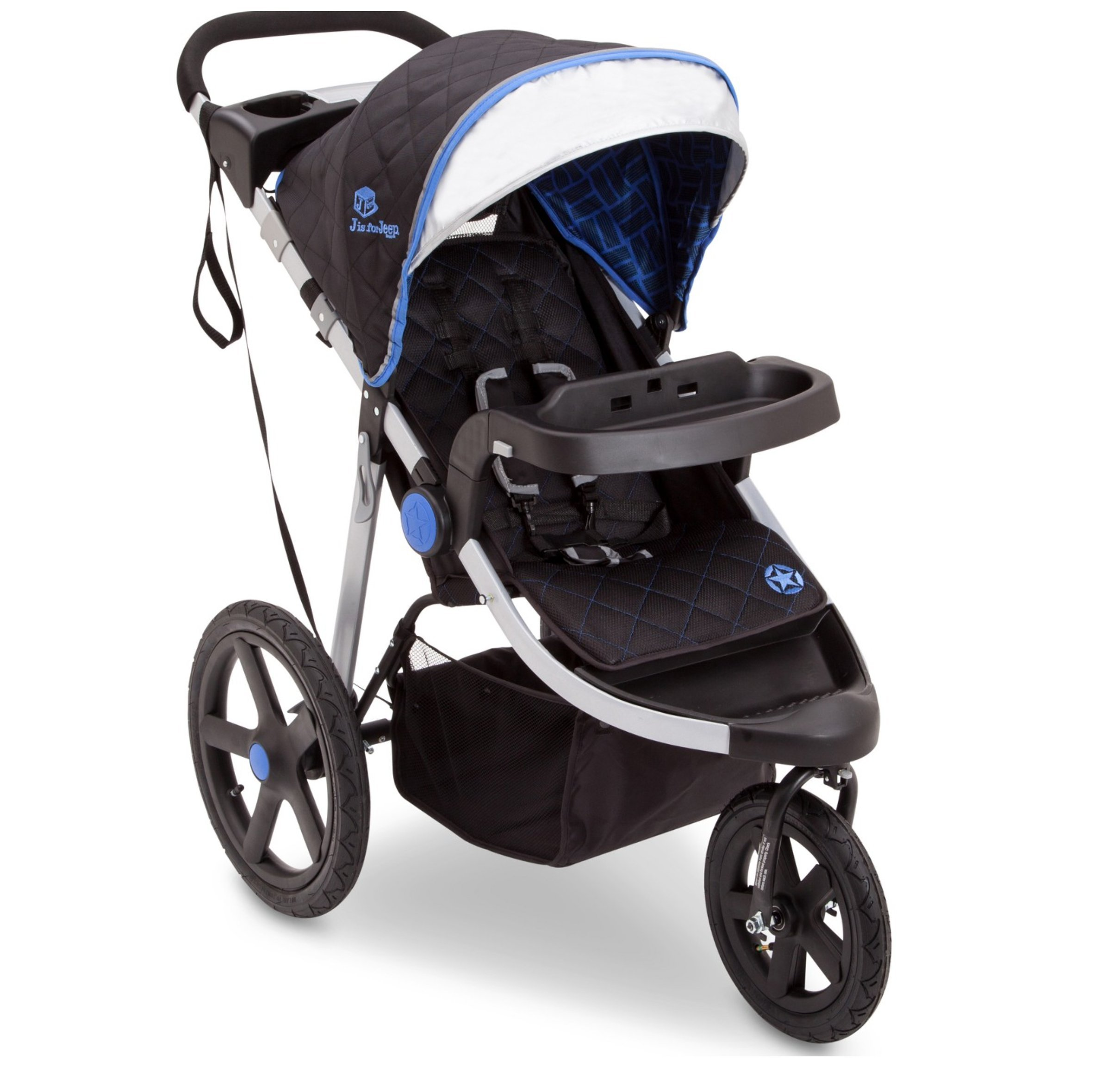J is for Jeep Brand Cross-Country Sport Plus Jogger (Blue)