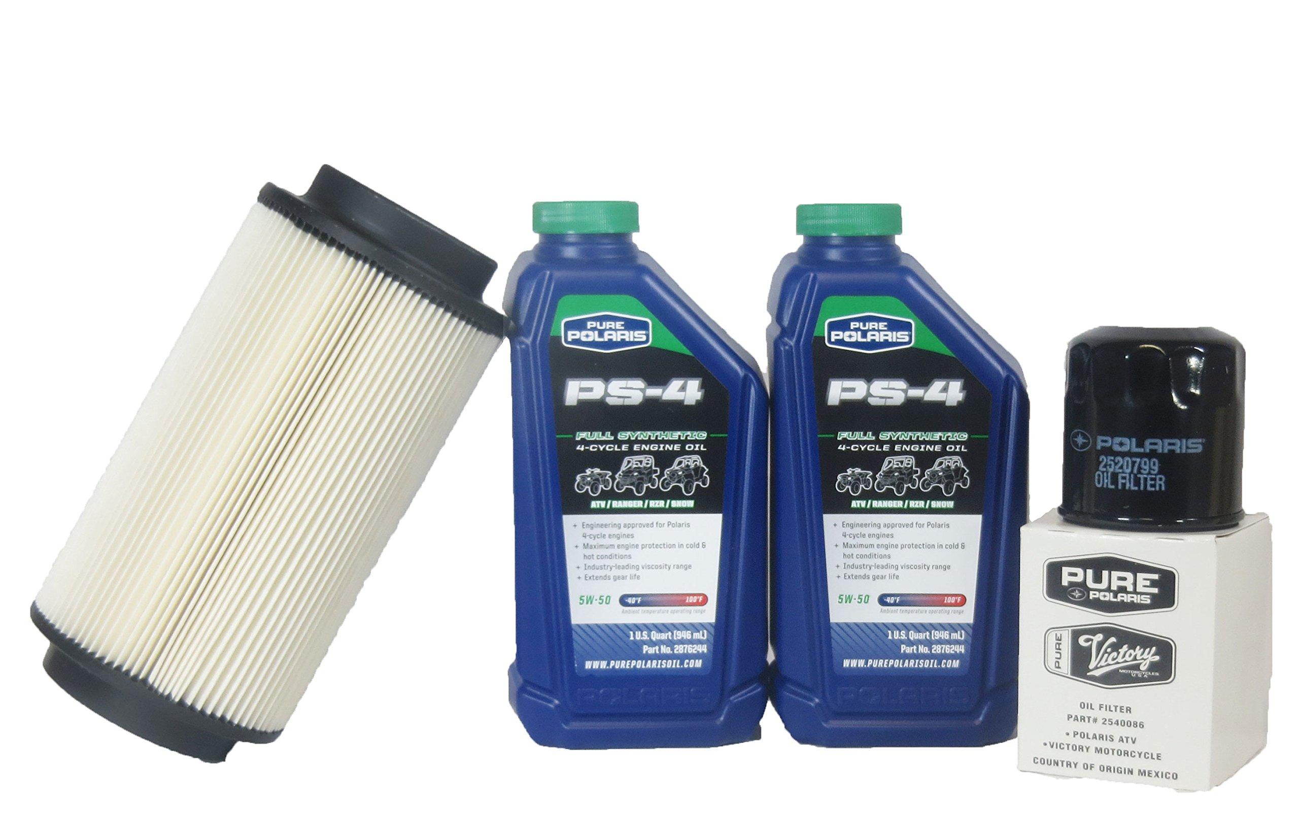 2001-2013 Sportsman 500 Ho Genuine Polaris Oil Change and Air Filter Kit