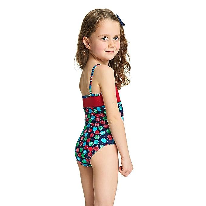 Zoggs Paradise Beach Corazón Mariposa Niñas Traje de Baño 18-24 2-3 RRP £ 14