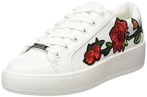 301755d587c Steve Madden Women s s Bertie-p Sneakers Off White Multi