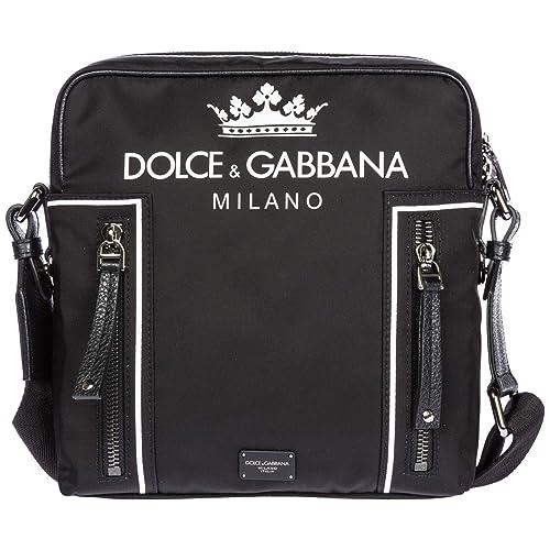 Dolce Gabbana borsa a tracolla uomo nero  Amazon.it  Scarpe e borse f95dac53c22