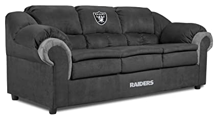 Imperial Officially Licensed NFL Furniture: Oakland Raiders Pub Microfiber  Sofa/Couch
