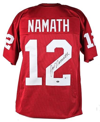 brand new 4cd0d 0ec40 Autographed Joe Namath Jersey - Red BAS & Holo - Beckett ...
