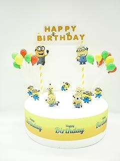 Set de decoración para tarta de cumpleaños de los Minions