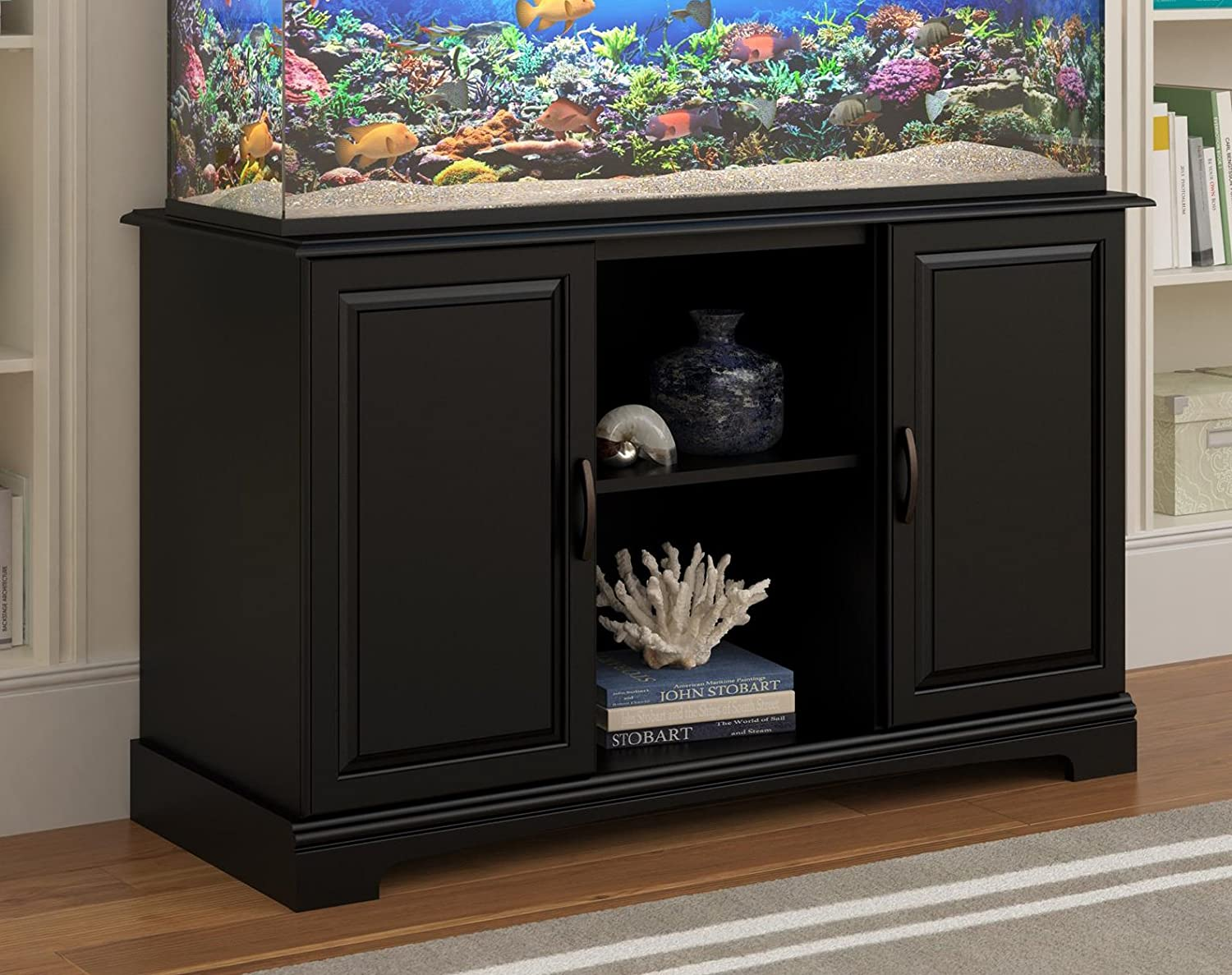 furniture aquarium. amazoncom altra furniture harbor aquarium stand 5075 gallon black pet supplies