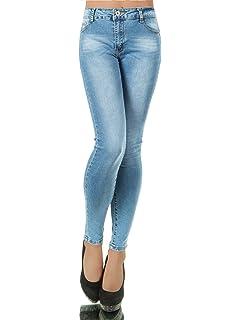 L370 Damen Jeans Hose Damenjeans Röhrenjeans Röhrenhose Röhre Normaler Bund