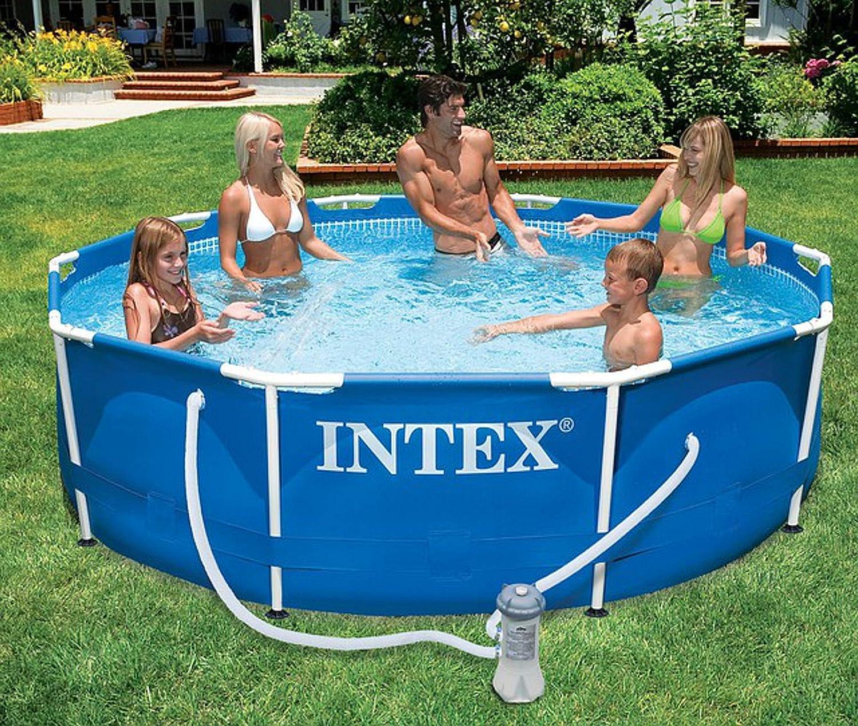 Intex 28212 piscina Frame rectangular cm 366 x 76 H con bomba filtro: Amazon.es: Jardín